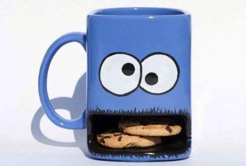 yawning cookie mug