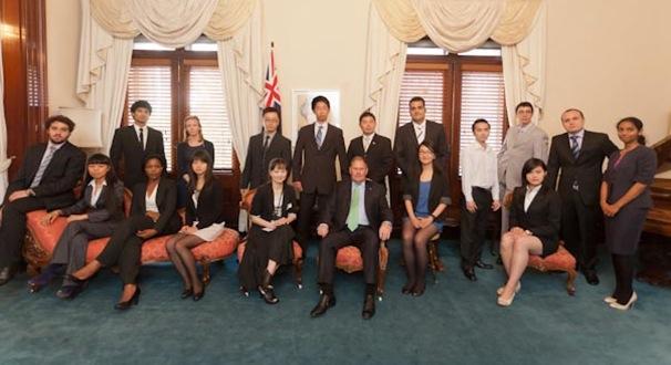 City of Melbourne Lord Mayor Robert Doyle with EDGE International Student Leadership Program students